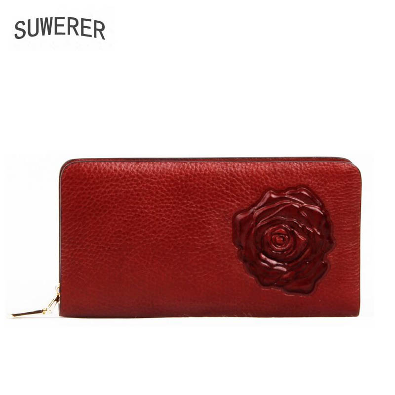 2019 New women Genuine Leather bags for women luxury Three dimensional embossing women bags designer Clutch bag Fashion Art bag in Wallets from Luggage Bags