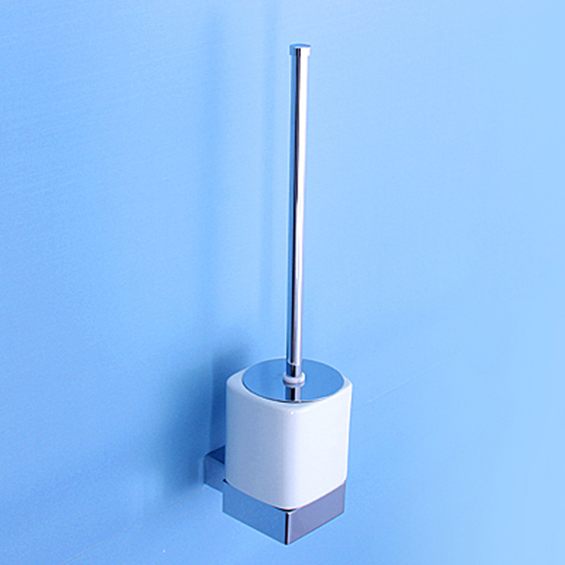 Chrome Toilet Brush Holder Brass Wall Mounted Modern Vintage Bathroom Accessories Cleaning Ceramic Cup Toilet Brush Holder Sets free shipping ba9105 bathroom accessories brass black bronze toilet paper holder
