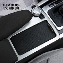 Стайлинга автомобилей интерьера пуговицы панель декоративная крышка Стикеры отделкой для Mercedes Benz C class W204 2008-10 LHD RHD авто аксессуары