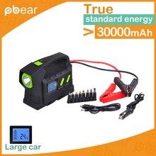 Big Energy 32800mAh Car Jump Starter multi-function AUTO emergency powerbank PetrolVehicle pack Bank Laptop Rechargeable Battery