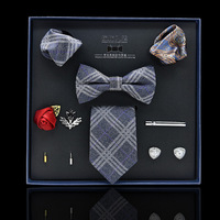 Tie men's formal wear business eight sets gift set to send Valentine's Day Father's Day gift her husband elders leading