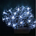 8M 50 LED Lamp Lotus Flowers Battery Operated Fairy Lights Decorative Lights for Christmas Wedding Decoration Garland lighting