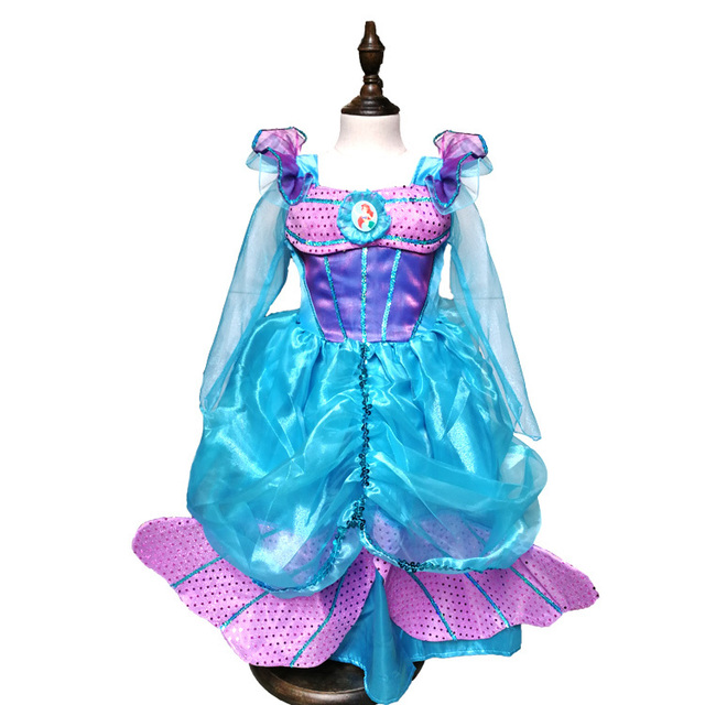 c1e489717a68 Baby the little mermaid tail princess ariel dress cosplay halloween costumes  for kids girls carnaval fancy