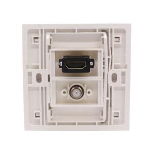 Image 4 - Błyszczący biały Panel ścienny cyfrowy TV HDMI gniazdo F głowy gniazdo TV bezpośrednio podłączyć 86mm płyta dla DVD PS telewizji
