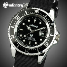 INFANTERÍA Hombres reloj de Cuarzo Caja de Acero Relojes Deportivos Correa De Nylon Militar Aviador Aeronautica Astilla Relojes Hombre