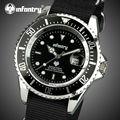 Infantry 2017 cuarzo de los hombres relojes de marca hombre militar nylon correa fecha display reloj deportivo a prueba de agua reloj relogio masculino