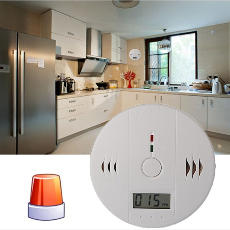 2018 New Home Safety CO Carbon Monoxide Poisoning Smoke Gas Sensor Warning Alarm Detector Kitchen High Quality