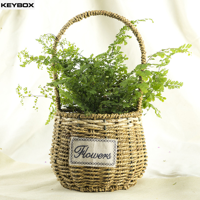 Straw Flower Hanging Baskets : Popular dried flower baskets buy cheap