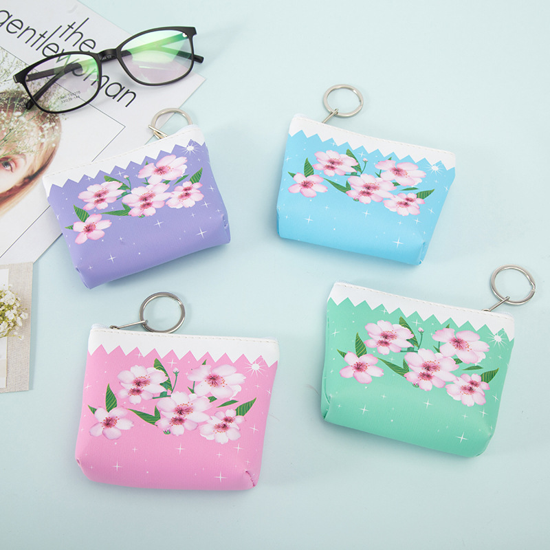 2018 Spring New Floral Wallet for Women Korean Fashion Girls Zipper Purse Kids Lovely Coin Pouch Kpop Lady Valentines Day Gifts
