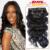 Clip brasileño en Extensiones de Cabello Humano Clip Onda Del Cuerpo Ins para Las Mujeres Negras 7 piezas conjunto Brasileño Pinza de Pelo Virgen En extensión