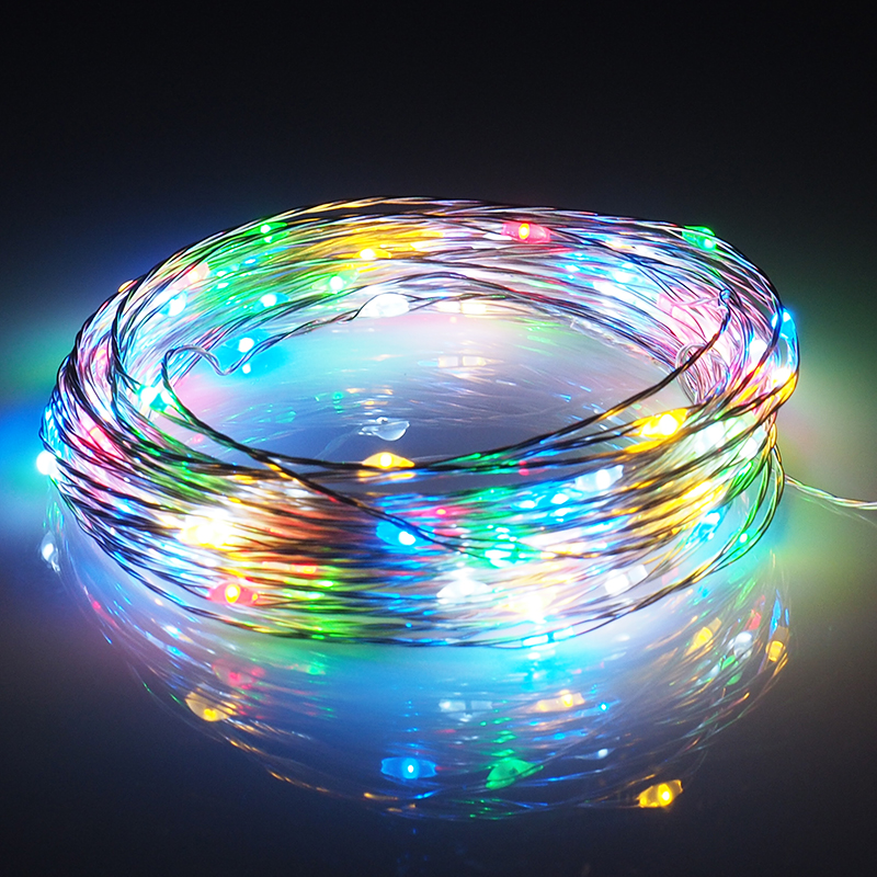 10m LED Strip Light Battery Powered RGB Copper Silver Wire Holiday String Lighting Fairy Christmas Trees Party Home Lighting блуза silver string silver string si021ewwnp34