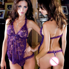 WAHO Dress for Sex 2014 New Women Sexy Lace Lingerie Hot Sexy Underwear Sexy Babydoll Nightwear Exotic Lingerie Free Shipping