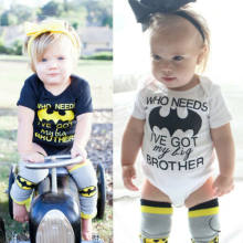 CANIS Brand 2019 Newborn Infant Baby Boy Girl Batman Romper Clothes Outfits Soft High Quality Letter Printed Cute Sets(China)