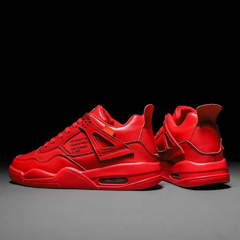 2019 Casual Cool Man Sneakers Creepers Plattform Wohnungen Air Kissen Krasovki Espadrilles Snickers Schuhe Männer Vulkanisierte Rot Schuhe
