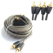 5 м для большинства автомобильных аудио-усилителей комплекты RCA 1 шт. к RCA аудио кабель силовой кабель динамик 12 В Чистый медный кабель