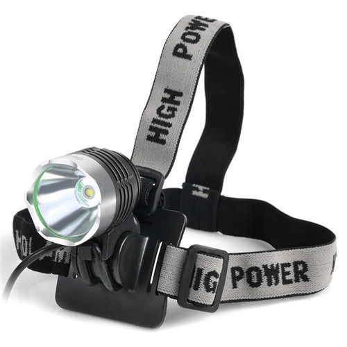 SingFire SF-90 Cree XM-L T6 3-Mode 1000lm White Bicycle Headlamp Headlight - Silve w/18650 Battery singfire sf 558b 200lm 4 mode white green led zooming headlight blue 2 x 18650