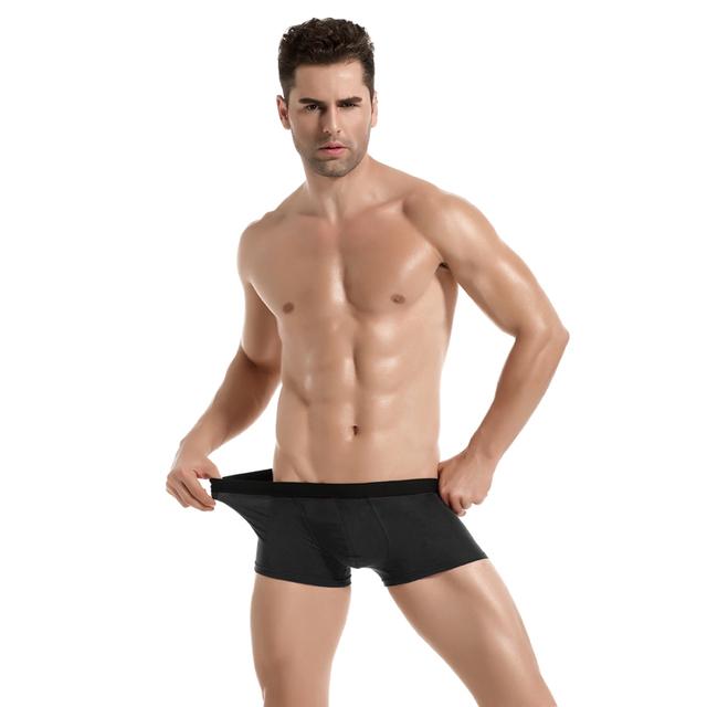 4 pcs/lot Mens Underwear Boxers Cotton Man Short Breathable