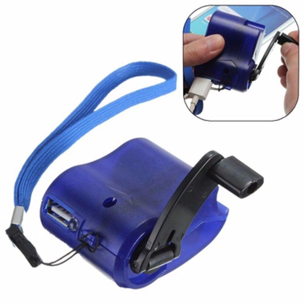 2017 Новый USB Путешествия Аварийного Телефон Зарядное Устройство Динамо Ручной Зарядное Устройство Синий купить на AliExpress