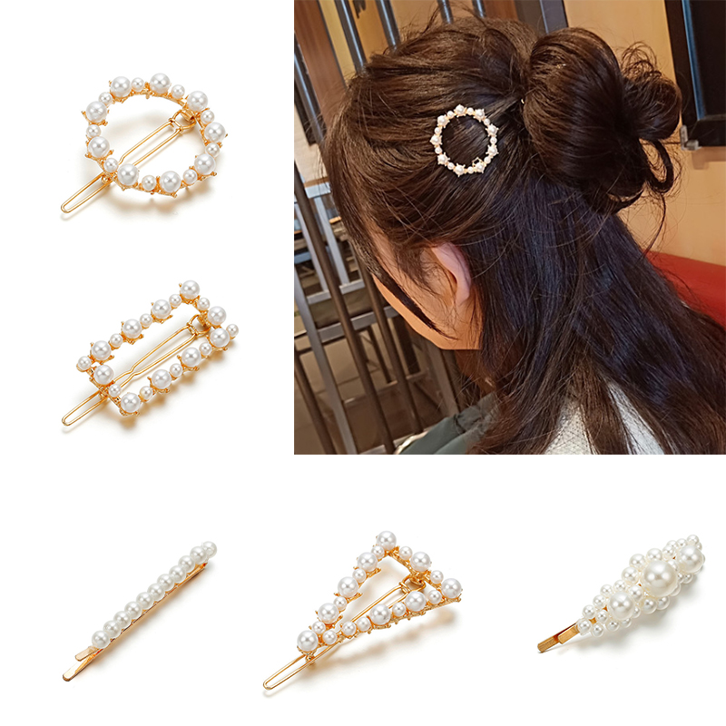 100% Quality Hot Ins Korean Rectangle Hairpin Rhinestone Barrettes Metal Hair Clips Luxury Stones Paved Hair Clamp Fringe Hair Accessories Hair Jewelry