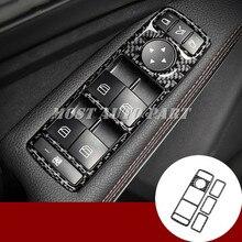 Углеродного волокна Автомобильная дверь окно кнопку крышка для Mercedes Benz ML W166 2012-2015 GL X166 2013-2015