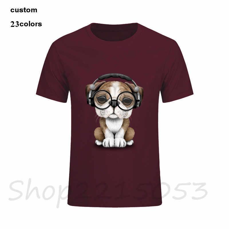 af24a02d1 ... 2018 English Bulldog Puppy Dj Wearing Headphones and Glasses Men t-shirt  pug music band ...