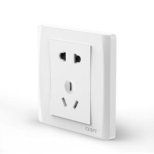 Image 2 - Enchufe de pared eléctrico para Xiaomi, placa frontal eléctrica AC250V 10A, 5 pines, toma de carga de 86x86mm, color blanco puro