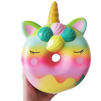 Big Squishy Unicorn Doughnut Slow Rising Squeeze Toys Stress Relief Toy Huge Squishy Squshi Jumbo Cake For Kid Gifts