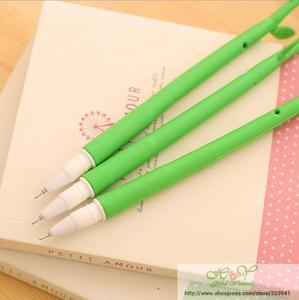 Image 3 - 48 шт./лот, новый красивый 3D дизайн цветов, гелевая ручка, 0,38 мм, черный Забавный подарок, канцелярские принадлежности для офиса и школы, HY, глобальная оптовая продажа