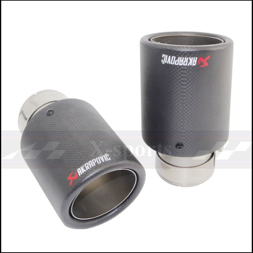 Car Styling Akrapovic Matte Carbon Fiber Muffler Tip Exhaust font b Systems b font Tail Pipes