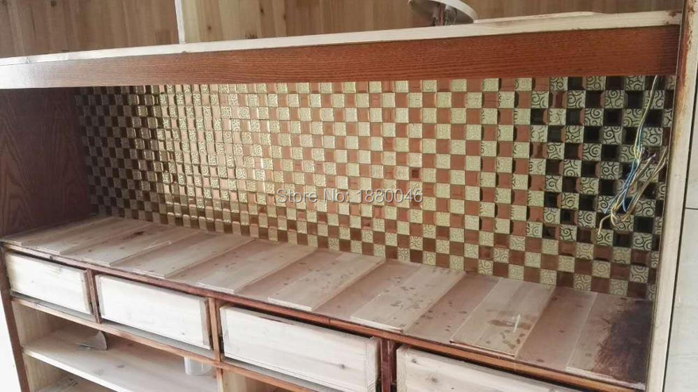 Gold mirror Mosaic glass Crystal Glass Mosaic Tiles for wallfor bathroom shower swimming pool DIY decorate 11pcs size 30*30cm
