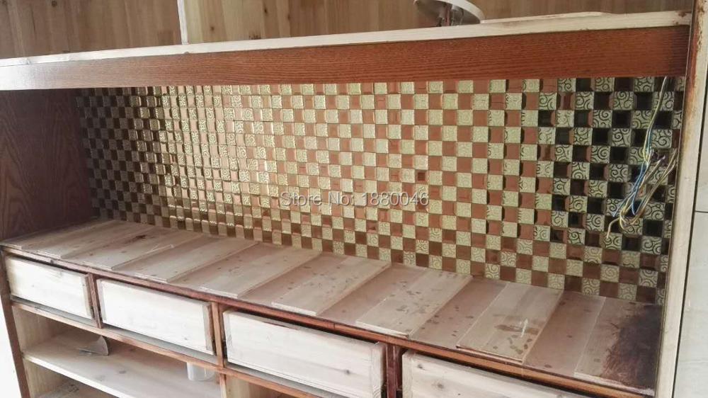 Diy Mosaic Tile Bathroom Mirror: Gold Mirror Mosaic Glass Crystal Glass Mosaic Tiles For