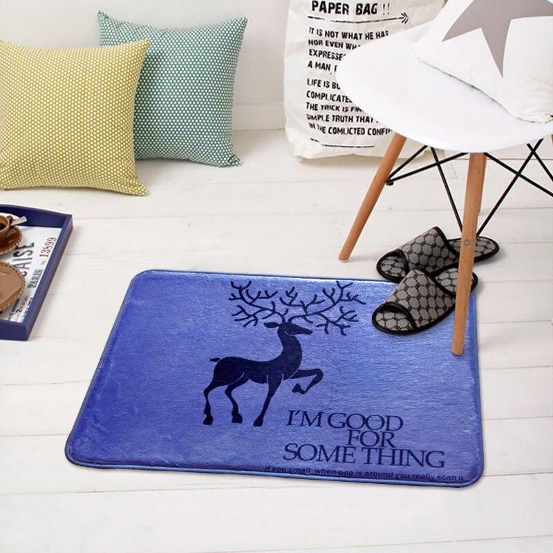 Новый 50x80 см мягкие Nordic серии Лось с принтом оленя журнальный столик номер спальни, живущих в помещении спальня ковер анти -тапочки коврик дл...