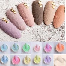 1pcs 설탕 반짝이 손톱 코트 12 색 네일 아트 반짝이 가루 안료 먼지 크롬 아트 네일 장식 플러시 효과 Glitters