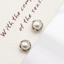 f5884d998 Boosbiy Pearl Earring Silver Stud Earrings With Pearls For Women and Girls  Jewelry 2 Colors Pearls To Choose Pandora Earrings