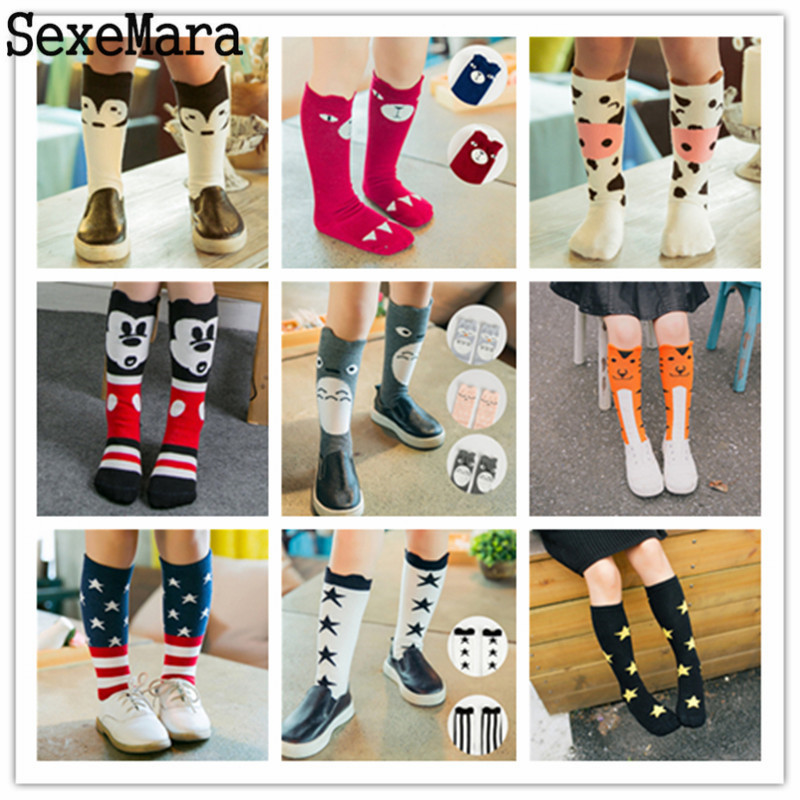 Autumn Winter Infant Kids Girl Boy Cartoon Animal Pattern Knee High Baby Socks Cute Kids Fox Socks Totoro Socks baby Long Socks