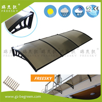 YP100300 100x300cm 39 X118 Home Use Sunshade Awnings Entrance Door Canopy Rain Canopies Black Awning Polycarbonate