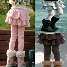 Retail 1pc Autumn Winter Kids Girls Leggings Girl Children Skirt Girls Skirt-pants Cake Skirt Girls Pants Spring Fashion