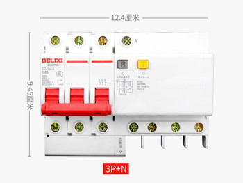 DZ47sLE 3P+N 6A 10A 16A 20A 25A 32A current Circuit breaker with over current and Leakage protection, air break switch