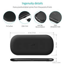 CHOETECH Wireless Charger Dual Pad Fast QI Wireless Charging For iPhone Xs Max Xr X 8 10W Phone Dock For Samsung S9 S8 S7 Edge