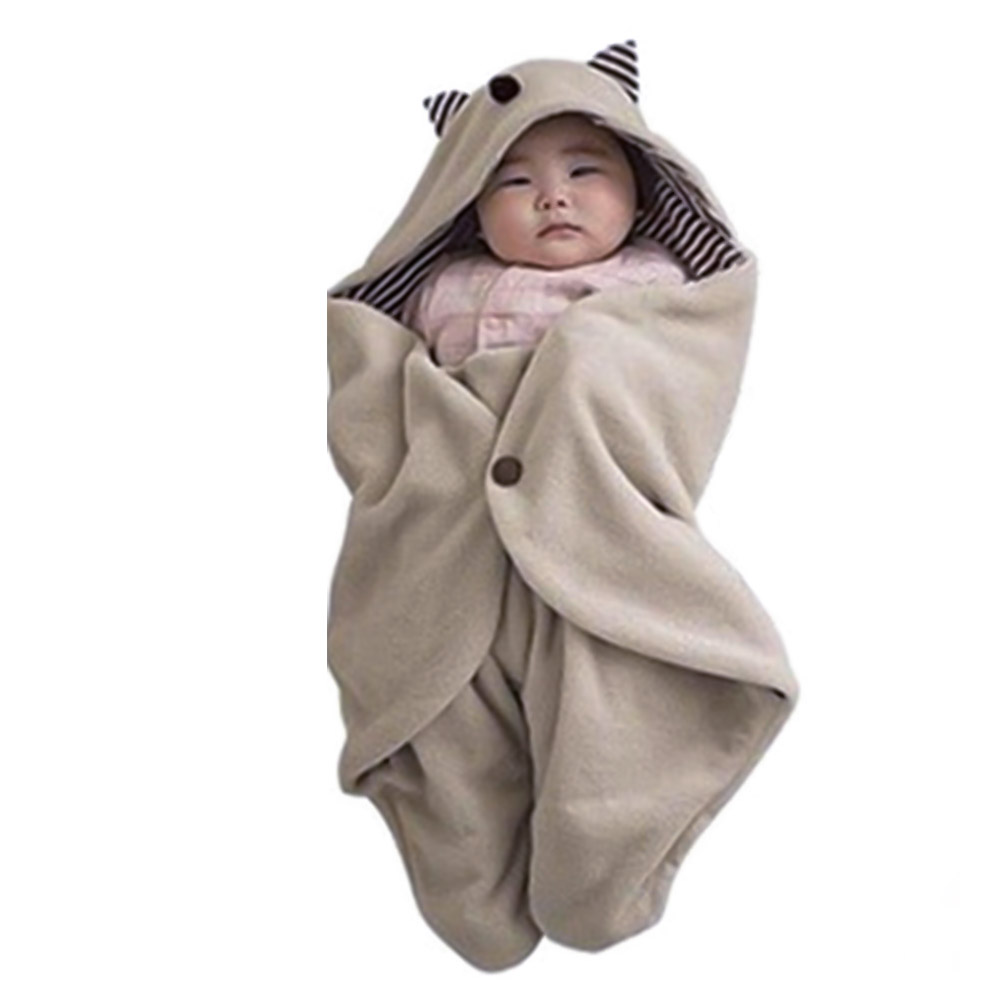 Baby Blanket Envelope Swaddle Winter Wrap Cotton Newborn Blanket Sleeper Infant Stroller Wrap Toddlers Baby <font><b>Sleeping</b></font> Bag