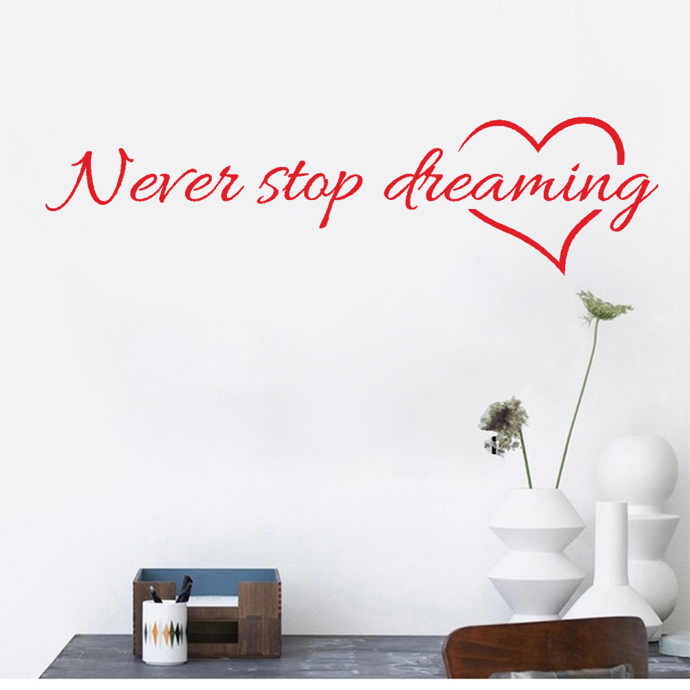 modern furniture deals reviews  online shopping modern furniture  - super deal never stop dreaming removable art vinyl mural home room decordecorations adesivo de paredes removable wall stickers