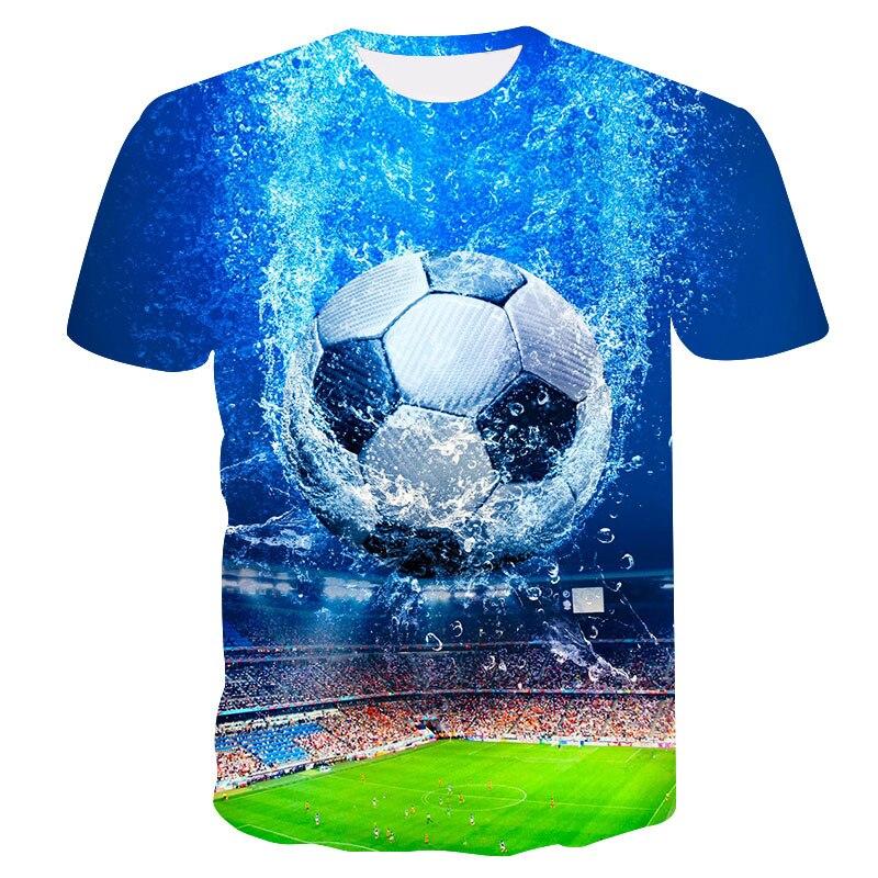 2018 New Summer Men's Football Printing 3D T Shirt World Cup O Collar Casual T-shirt Streetwear Fashion T-shirt