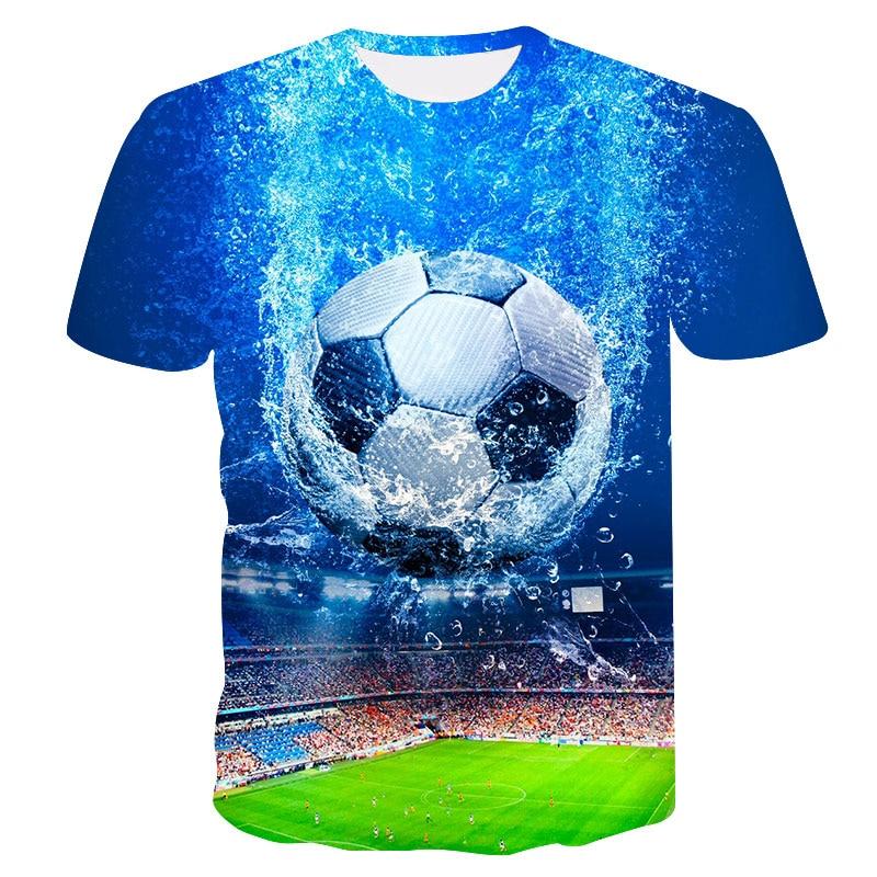 2018 new summer men's football printing 3D   T     shirt   World Cup O collar casual   T  -  shirt   streetwear fashion   T  -  shirt