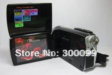 12MP Dual solar charger digital video camera with 2.7 inch screen and lithium battery