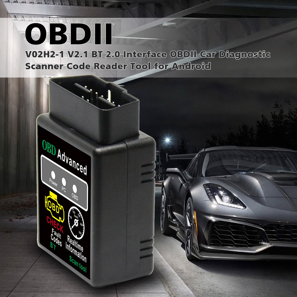Obd2 hh obd elm327 v1.5 bluetooth obd2 pode ônibus verificação do motor carro ferramenta de diagnóstico scanner adaptador interface para android pc