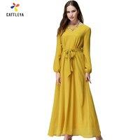 שמלת Chifffon למעלה אופנה נשים 2017 מכירה חדשה מוסלמים העבאיה טורקית שמלת גלימות ערביות המזרח התיכון נשים פעמיים סיפון בגדים