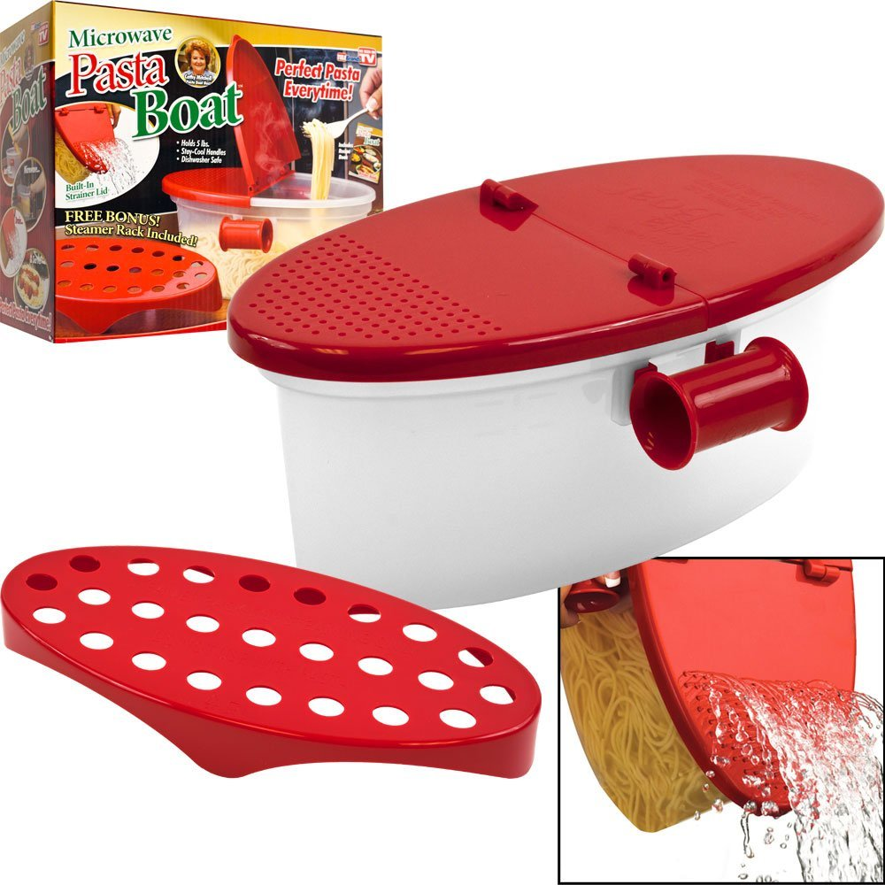 perfect microware pasta cooker heat resistant boat microwave steamer bowl strainer pasta microwave kitchen tools spaghetti boat