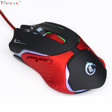 2017 New Hot 6D LED Optical USB Wired 3200 DPI Pro Gaming Mouse For Laptop PC Game Gaming Mouse Maus raton para juegos SP26