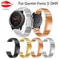 26mm Quick Fit Metall Edelstahl Uhr Band Strap Armband für Garmin Fenix 5X Plus/Fenix 3/3 HR /D2/Abstieg Mk1 Smart Uhr