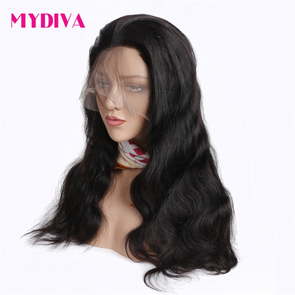 360 Lace Frontal Wigs For Women Natural Black Brazilian Body Wave Lace Front Human Hair Wigs